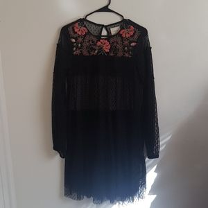 MAEVE LONG SLEEVE BLACK LACE DRESS